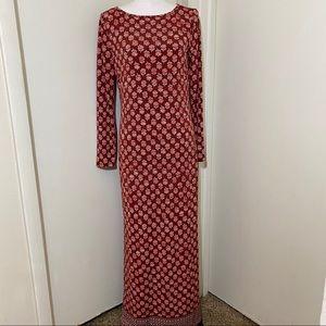 Michael Michael Kors Floral Print Long Maxi Dress